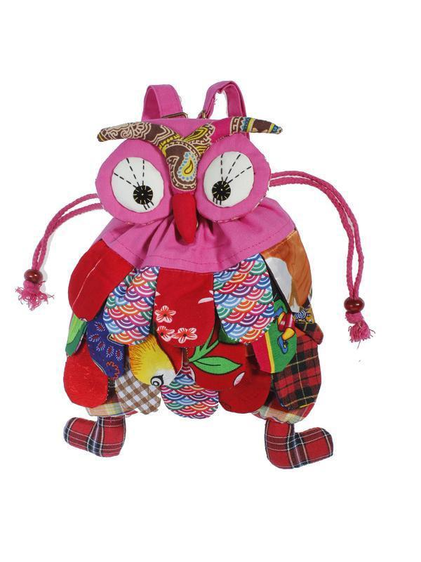 Kid Children Colorful Owl Bird Animal Cartoon SchoolBag Backpack Bag Child Gift