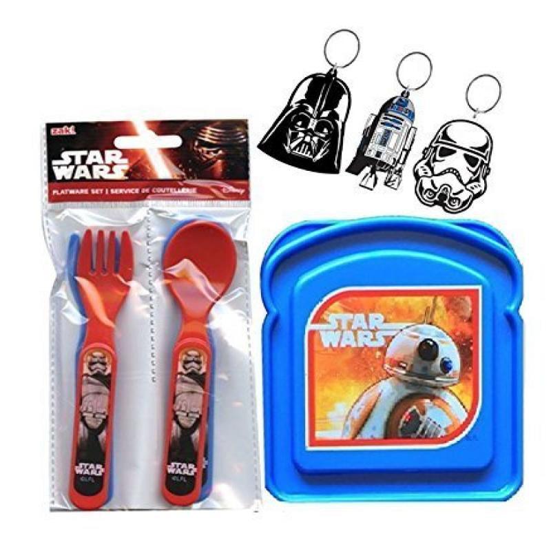 Star Wars Sandwich Bread Box & 4pc Star Wars Utensils Set! Plus Bonus