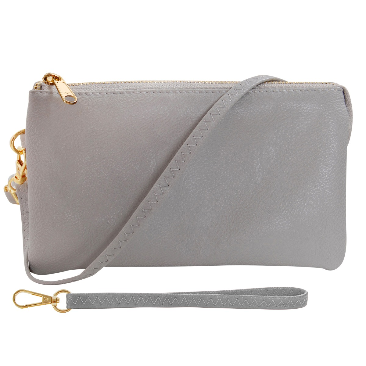 Includes Humble Chic Vegan Leather Small Crossbody Bag Or Wristlet Clutch Purse