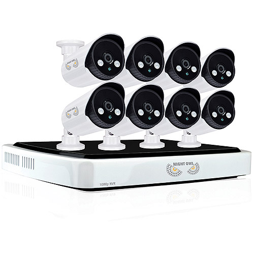 Night Owl NVR10-882 Network Video Recorder with 2TB HDD and 8 Night Vision 1080p HD IP Cameras