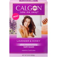 (2 pack) Calgon Ultra Moisturizing Bath Beads with Aloe & Vitamin E, Lavender & Honey, 30 oz