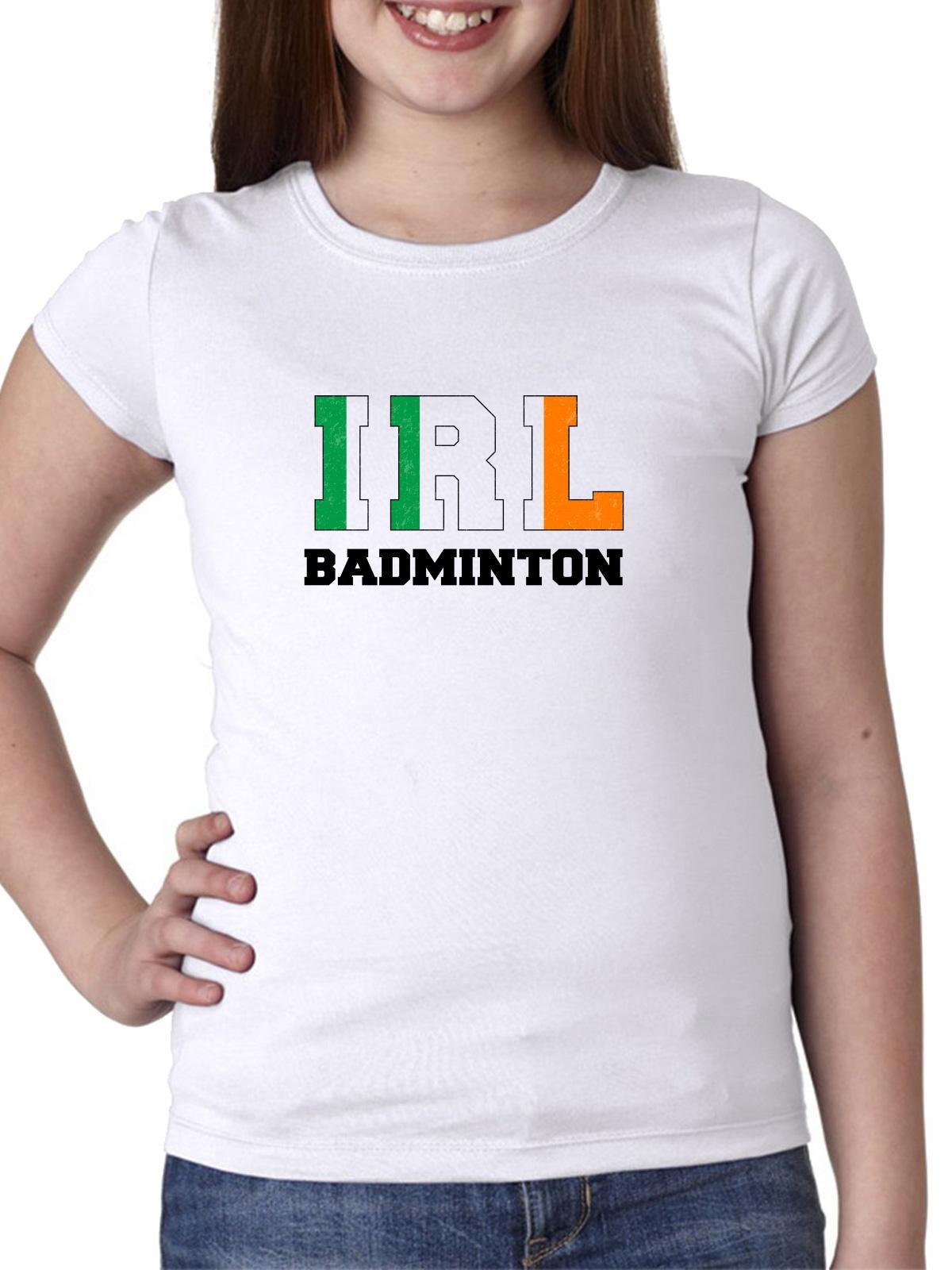 Ireland Badminton - Olympic Games - Rio - Flag Girl's Cotton Youth T-Shirt