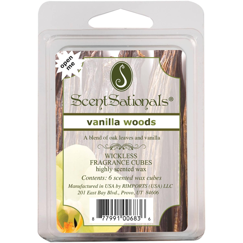 ScentSationals Vanilla Woods Fragrance Cubes, 6pk
