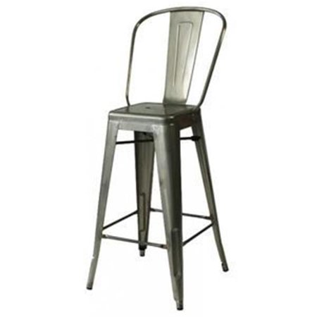 Zuo Modern Contemporary 106120 Elio Bar Chair   Gunmetal