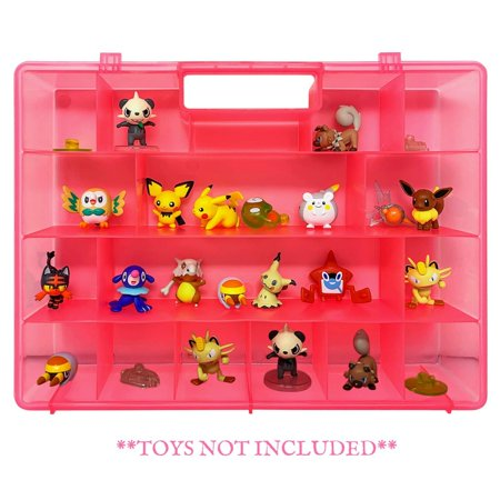 Life Made Better Sturdy, Reinforced Pink Toy Carrying Case, Compatible with Pokemon Action Figures, This Box is Not Created by