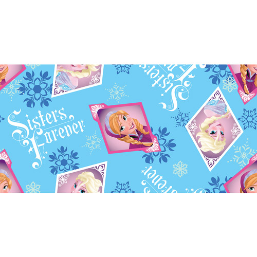 "Disney Frozen Sisters Forever Toss Fleece Fabric, 59/60"" Wide, Sold by the Yard"