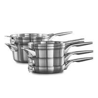 Calphalon Premier Space Saving Stainless Steel 8-Piece Cookware Set