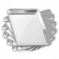 GRIDMANN Commercial Grade Aluminium Cookie Sheet Baking Tray - Asssorted Sizes - 6 Pans