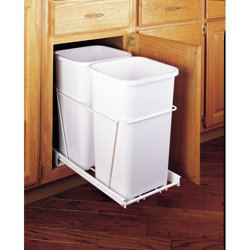 Rev-A-Shelf Plastic 6.75 Gallon Pull Out Trash Can