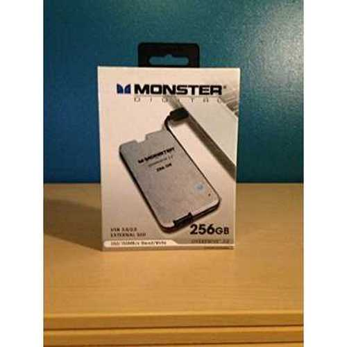 Monster Digital 256GB Overdrive 3.0 External SSD (SSDOU-0256-A)