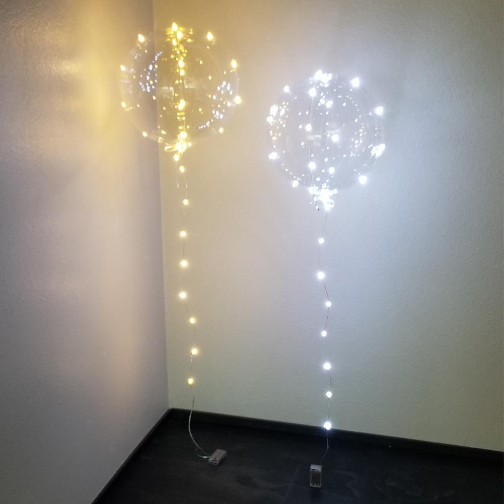 40 pieces Balloons Wedding LED Luminous LED Balloons White White