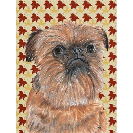 Carolines Treasures SC9544CHF Brussels Griffon Fall Leaves Flag Canvas House Size - image 1 of 1