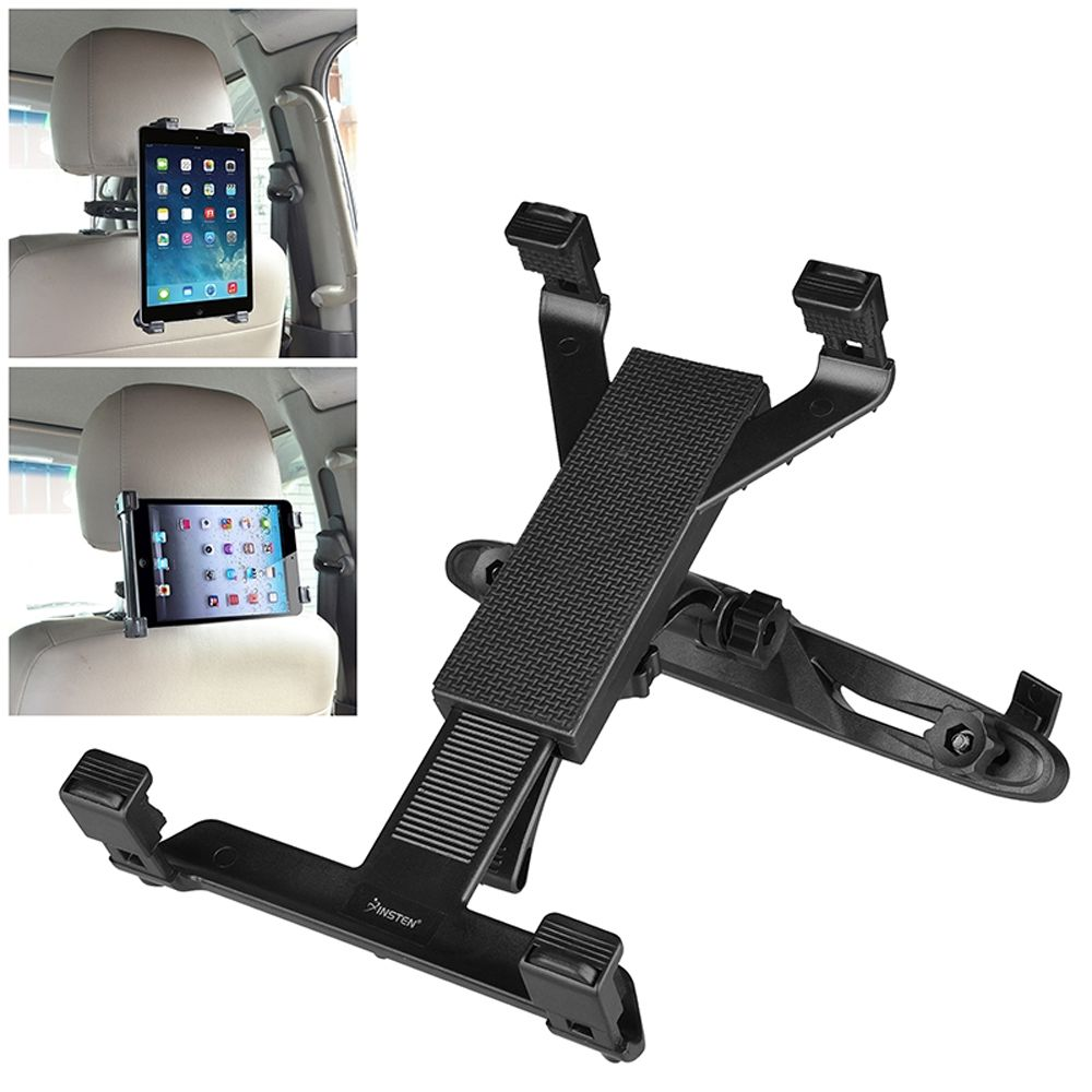 EEEKit Car Tablet Headrest Mount Black for 4~11-inch Smartphones and Tablets Tablet Holder Back Seat Stand Cradle Compatible with New iPad 2018 Pro 9.7 10.5 Air Mini 2 3 4