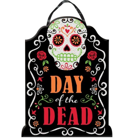 DAY OF THE DEAD TOMBSTONE HANGING SIGN