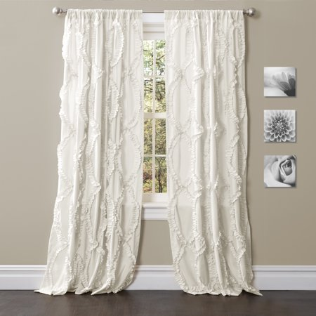 Ruffled Ribbons Curtain Panel (Pin Ribbon Drapes)