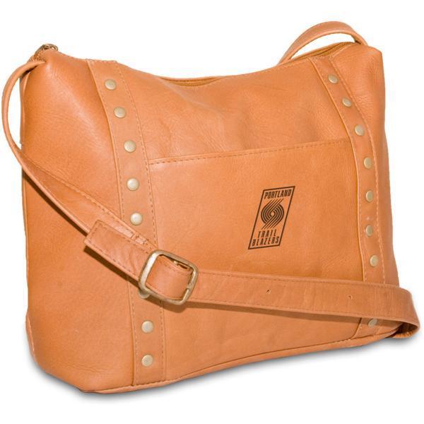 Pangea Tan Leather Women's Mini Top Zip Handbag - Portland Trailblazers Portland Trailblazers PANGBKTPORHBT