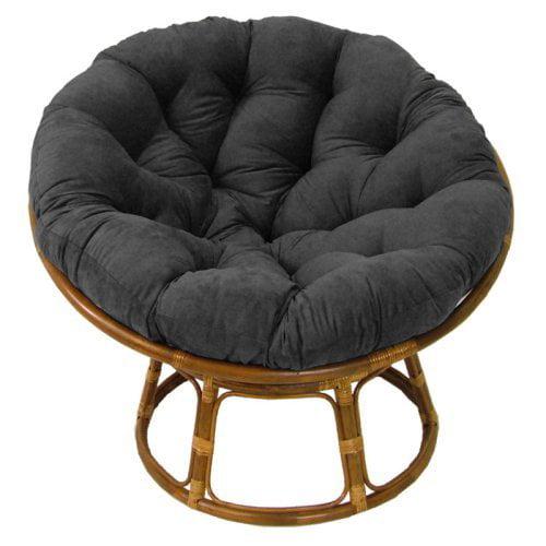 International Caravan Papasan Chair with Solid Micro Suede Cushion - 42 in.