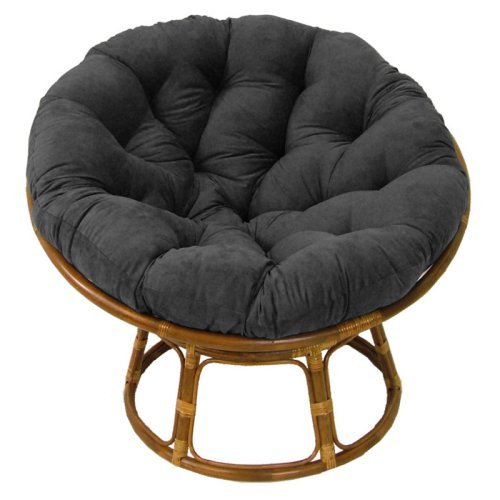 International Caravan Papasan Chair with Solid Micro Suede Cushion - 42 in.