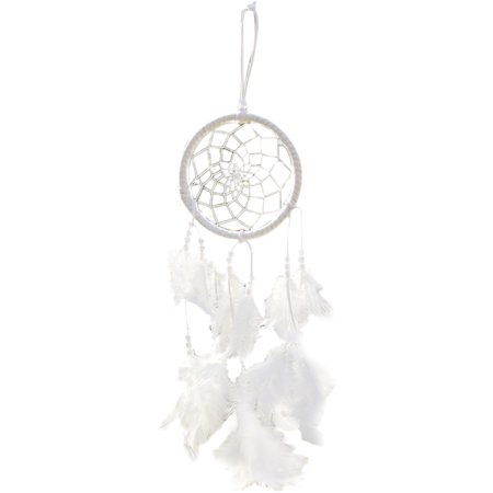 Hope Bell (Dream Feather Wind Chimes Wind Bell Feather Pendant ABS Hanging Ornament Home Decor)