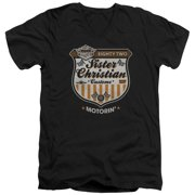 Night Ranger Motorin Mens V-Neck Shirt