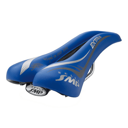 Selle SMP Extra Saddle Blue w/ Steel Rails Road Commuter Training Cycling Bike
