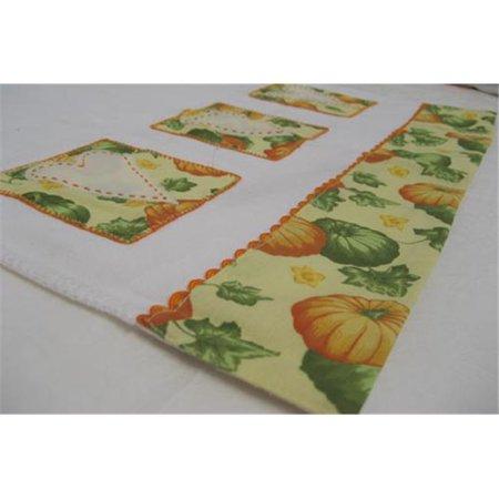 - RSC TTT-082 Hand Crocheted Pumpkin Heart Tea Towel