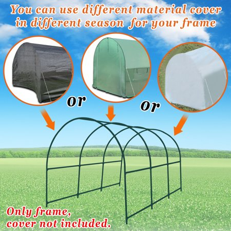 Sunrise 12'x7'x7' Large Walk-In Outdoor Gardening Plant Greenhouse Replacement Part - Frame (Organic Greenhouse Gardening)