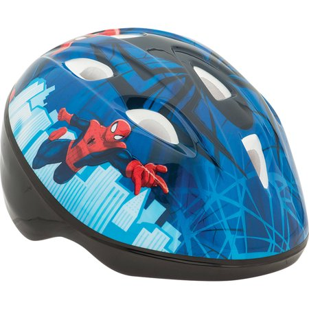 - Marvel Spider-Man Toddler Bike Helmet, Blue/Black