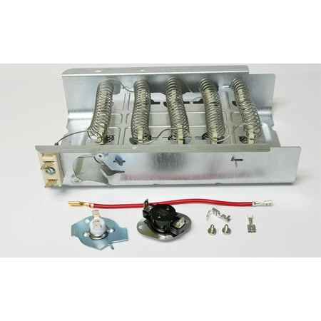 WP279838 AND 279816 Dryer Heating Element and Thermostat Combo Pack for Whirlpool Kenmore Electric Dryers ()