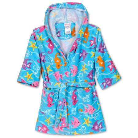 Komar Kids - Komar Kids Girls Cotton Hooded Terry Robe Cover Up ... 5ad0fc6f6
