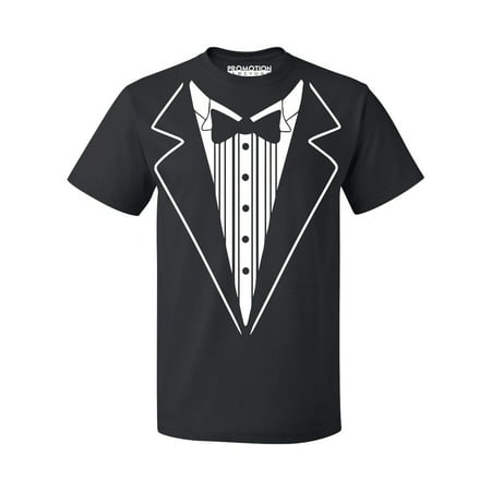 P&B Tuxedo White Funny Wedding Ceremony Party Men's T-shirt, XL, Black - Everything Funny T-shirt