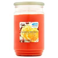 Mainstays Cranberry Mandarin Single-Wick 20 oz. Jar Candle