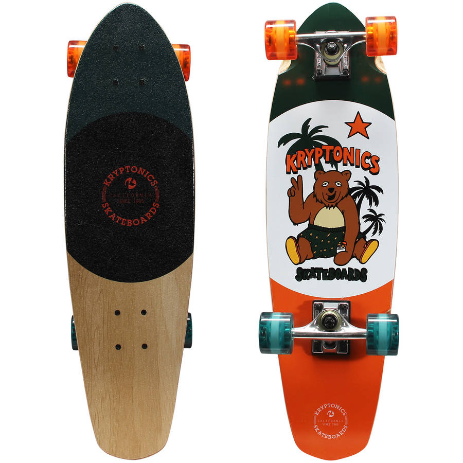 "Kryptonics 28"" Complete Cruiser Skateboard (28"" x 8"") Roasted by Bravo Sports"