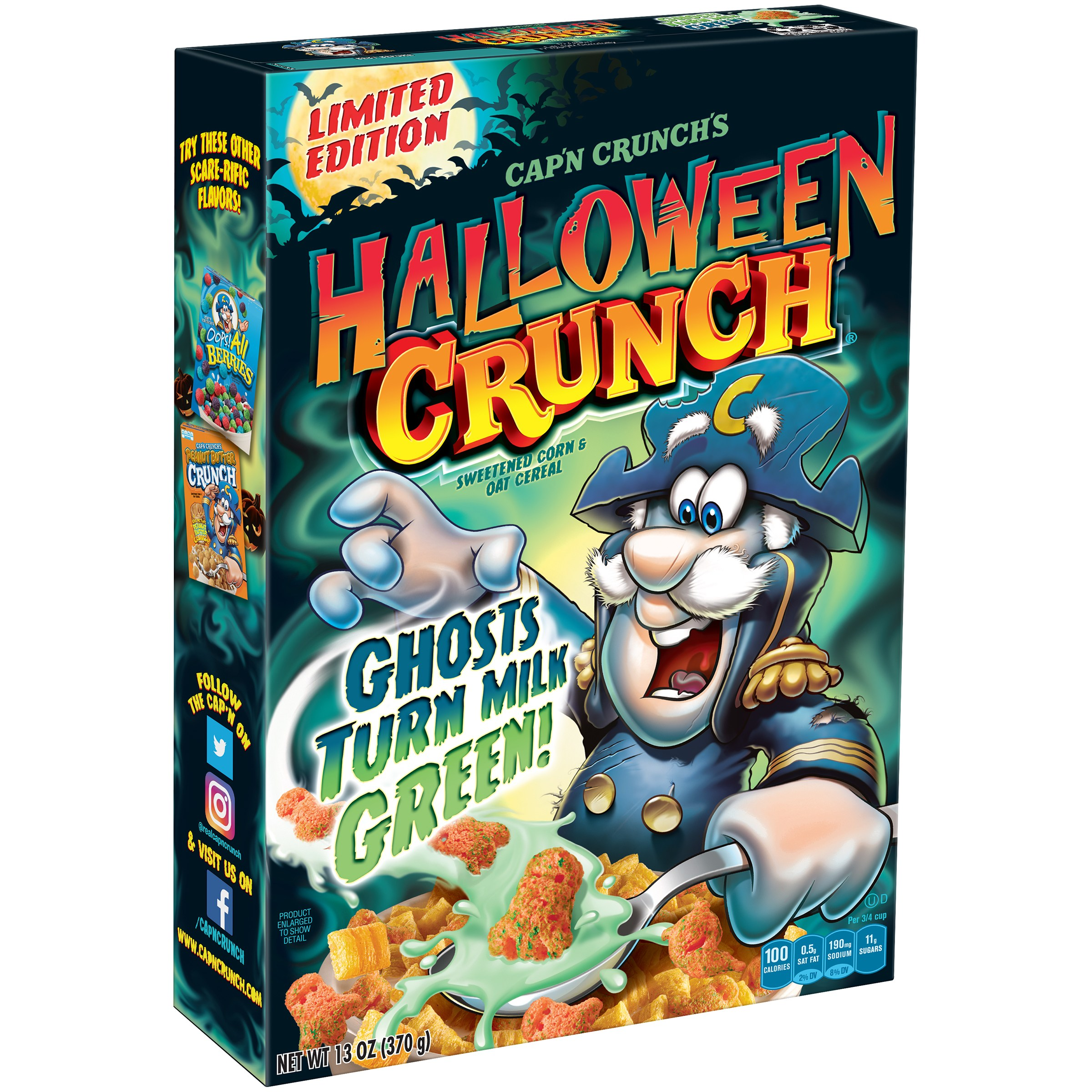Cap'n Crunch's Halloween Crunch® Cereal 13 oz. Box - Walmart.com