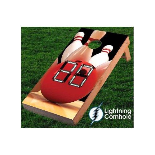 Lightning Cornhole Electronic Scoring Bowling Ball Cornhole Board