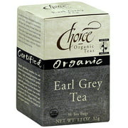 Choice Organic Teas Organic Earl Grey Tea, 16BG (Pack of 6)