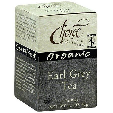 Choice Organic Teas Earl Gray Tea Organic, 16BG (Pack de 6)
