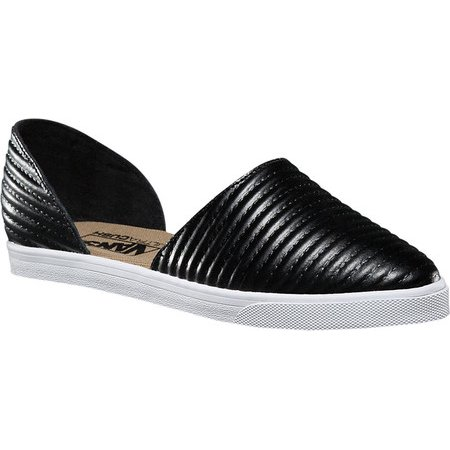 Vans Slip On Skimmer Moto Leather Black Women's Shoes Size 5.5](Vans Sizing Chart)