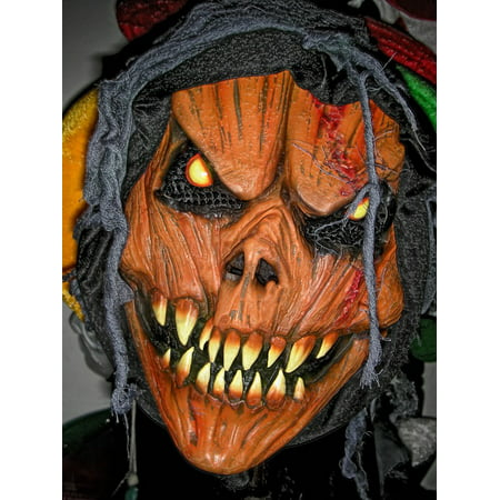 Scary Halloween Face (LAMINATED POSTER Scary Face Mask Zombie Devil Halloween Evil Poster Print 11 x)