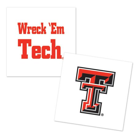 Texas Tech Red Raiders Temporary Tattoo - 4 Pack