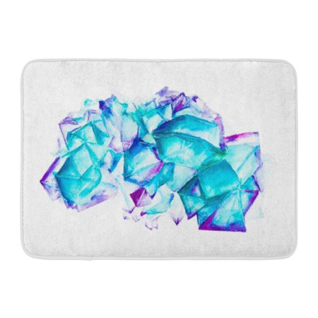 YUSDECOR Apatite Pink Abstract Watercolor Gemstone Raster Hand Drawn Amethyst Aquamarine Rug Doormat Bath Mat 23.6x15.7 inch - image 1 of 1