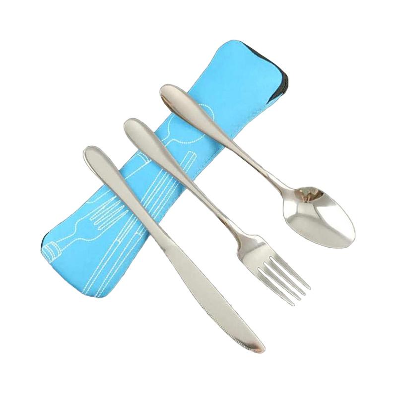 Picnic Portable Foldable Tableware Utensil Set Fork Spoon Cutter Flatware
