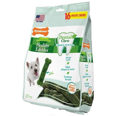 Nylabone Healthy Edibles Dental Dog Chews, Petite 16ct