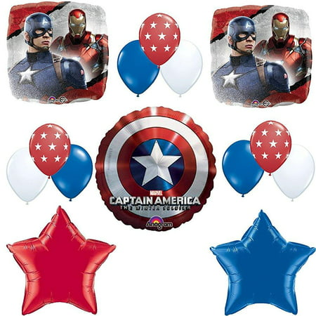 Captain America Birthday Party Balloon Decoration Kit](Party America Hours)