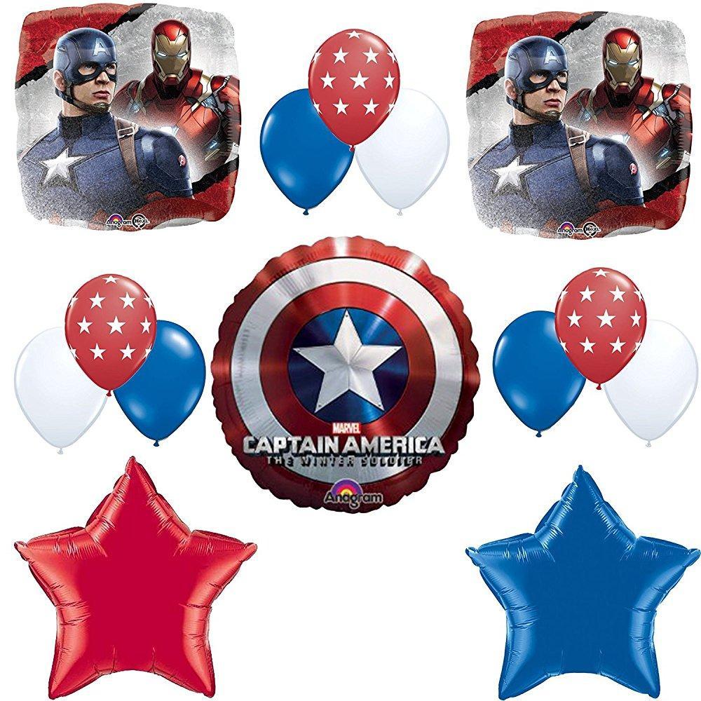 Captain America Birthday Party Balloon Decoration Kit