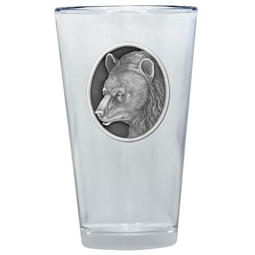 Black Bear Pint Glass by