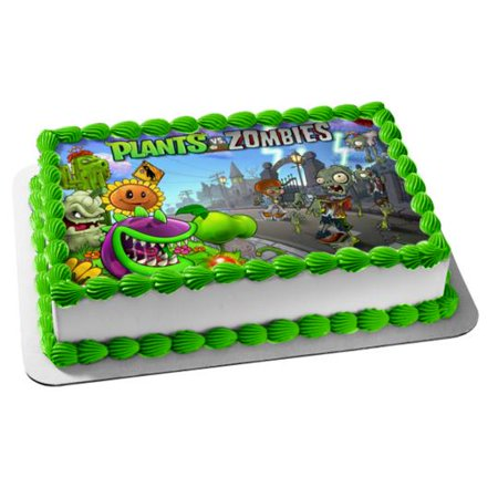 Plants Vs Zombies Popcap Sunflower Chomper Edible Cake Topper Image