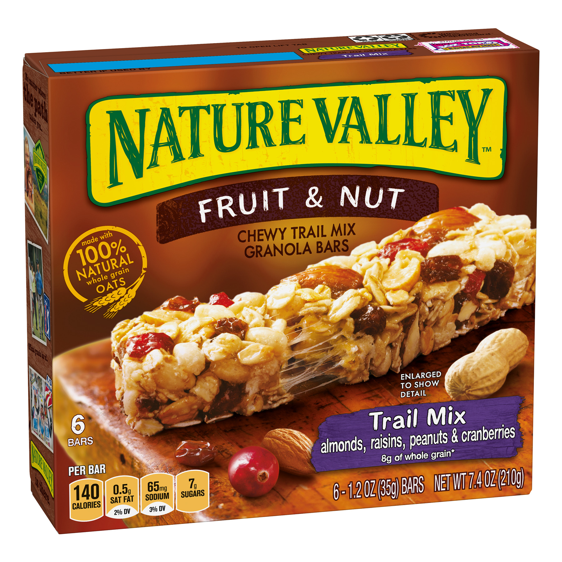Nature Valley Chewy Granola Bar Trail Mix Fruit & Nut 6 Bars - 1.2 oz