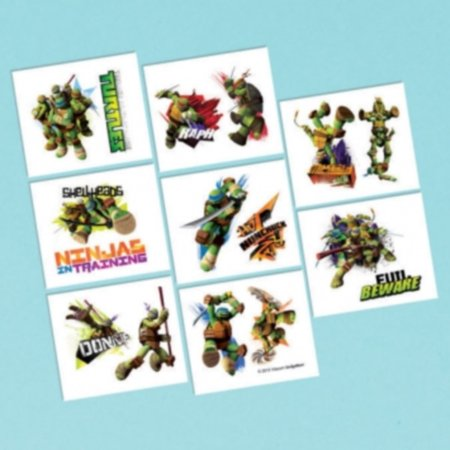 Ninja Turtles Tattoos (Teenage Mutant Ninja Turtles Birthday Party 16 Tattoos Favors)