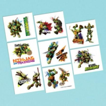 Teenage Mutant Ninja Turtles Birthday Party 16 Tattoos Favors Loot - Small Turtle Tattoo